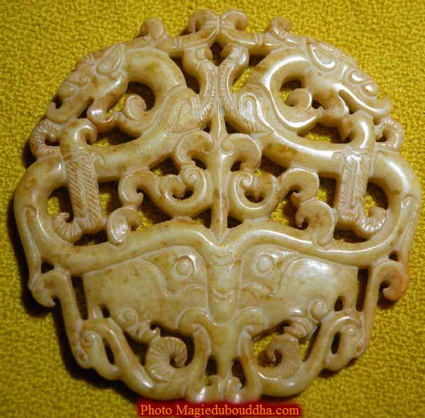 pendentif jade dragon chinois