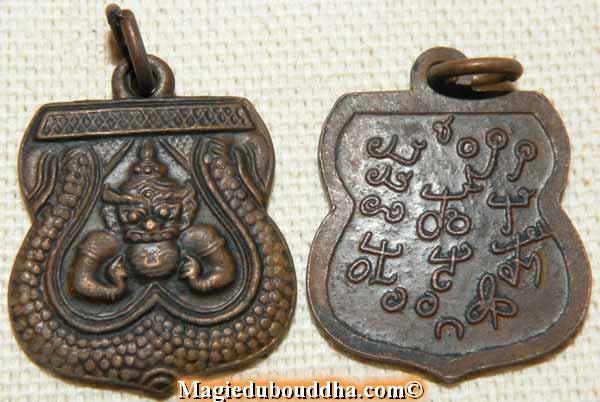 médaille phra rahu thailande