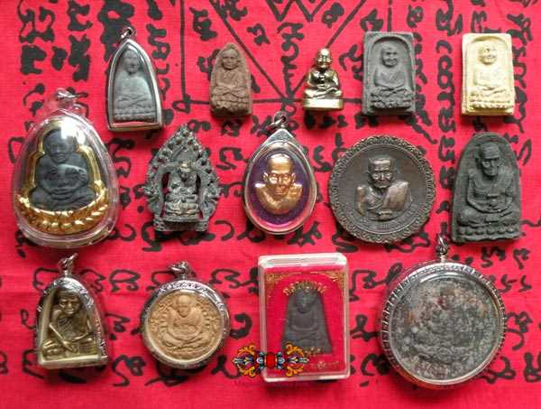 collection amulettes de luang phor thuat