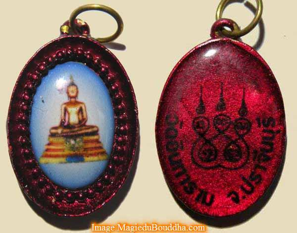 médaille bouddha thailande