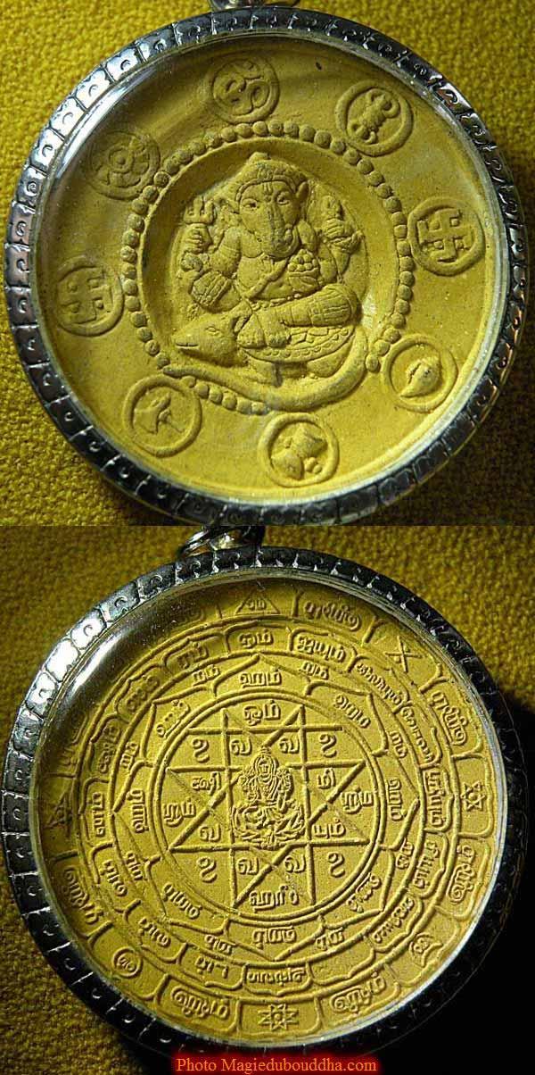 Amulette Thai de ganesh avec son rat.