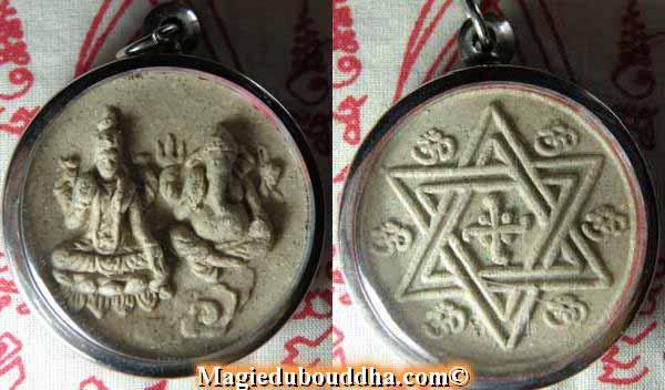 Amulette Thai de shiva et ganesh.