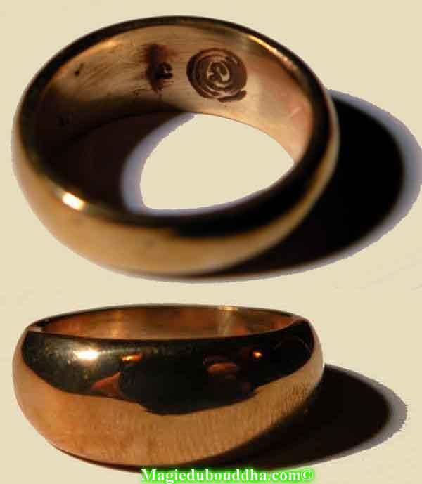 bague en cuivre alchimique