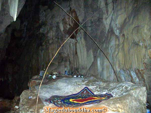hermit in cave thailand