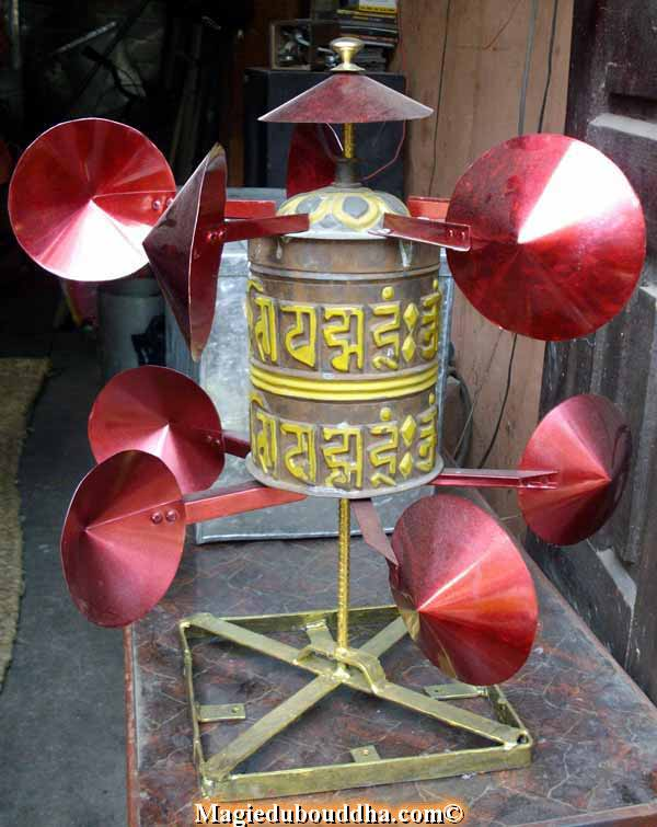 wind prayer wheel