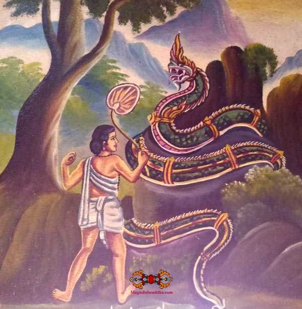 nagas in laos temple