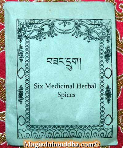 six medicinal herbal spice