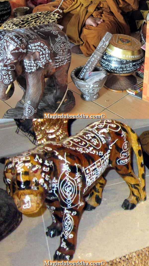 objets bénits temple thai yant