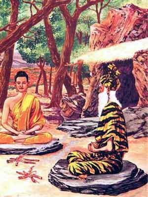 buddha learning from a lersi