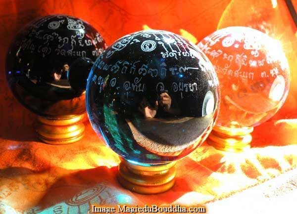 theravada meditation ball crystal